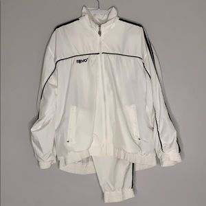 Vintage White Revo Windbreaker Pants & Jacket